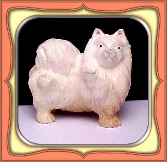 CARVING - HANDCARVED SHED ALASKIN MOOSE ANTLER DOG
