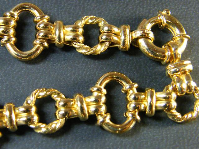 18 K GOLD CHAIN BRACELET WITH OPAL   21.05 GRAMS  L 438
