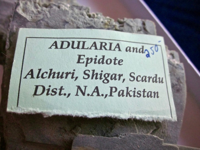 Adularia and Epidote Alchuri, Shigar, Scardu Dist., N.A., Pakistan