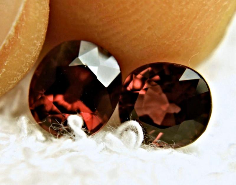 3.53 Tcw. Matched Rhodolite Garnets - Gorgeous