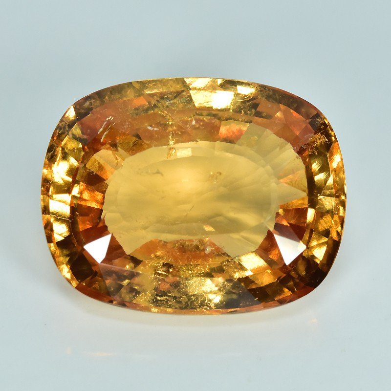 15.25 Ct Natural Srilanka Orangeish Red HESSONITE GARNET Cushion Gem!!