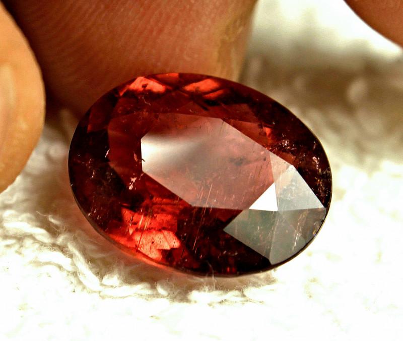 CERTIFIED - 12.87 Carat SI African Rubelite Tourmaline - Gorgeous