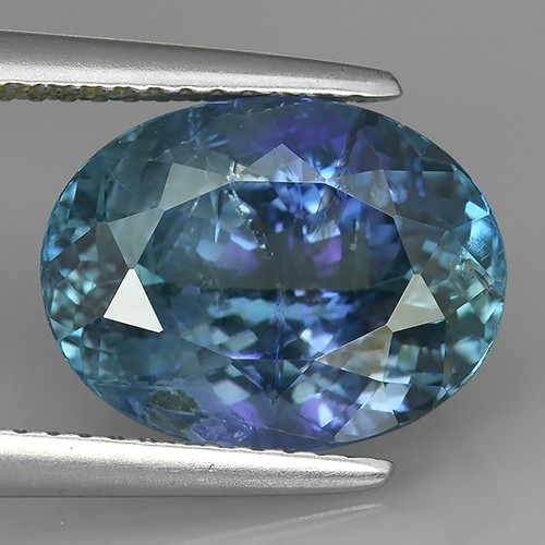6.27 Cts GENUINE ULTRA RARE NATURAL GREENISH BLUE TANZANITE