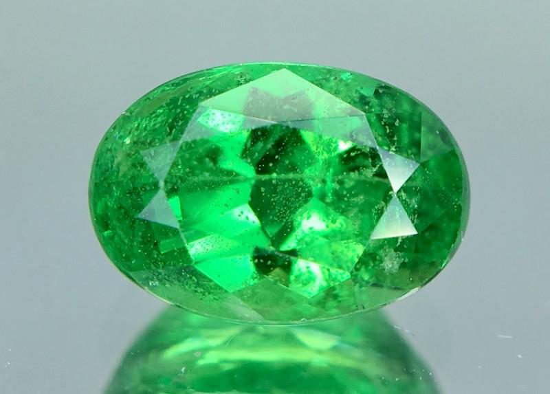 1.54 Crt GIL Certified Tsavorite Faceted Gemstone