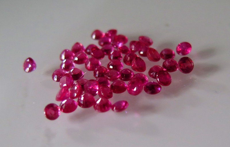 VERY NICE RUBY COMPOSITE FROM MOZAMBIQUE 3mm