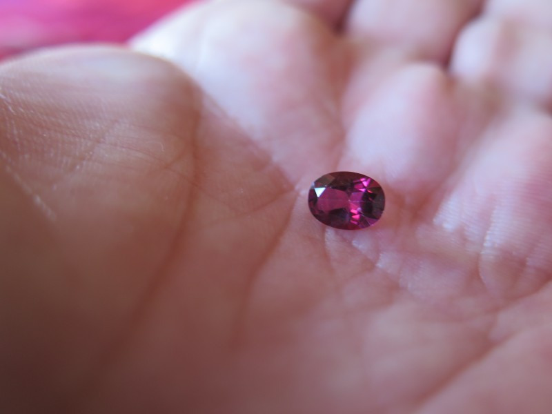 very nice natural pink mystic  topaz 6x8mm