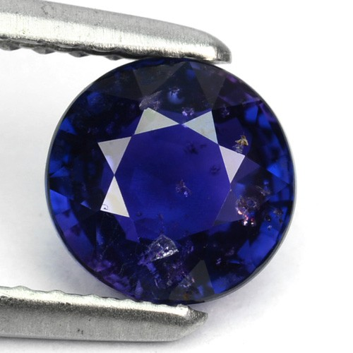 ~LOVELY~ 1.34 Cts Natural Top Blue Sapphire Round Cut Sri Lanka