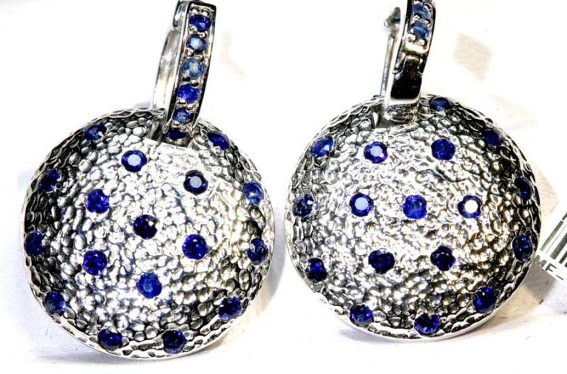 75.50 CTS  - SAPPHIRE EARRING BLUE   SG-2701