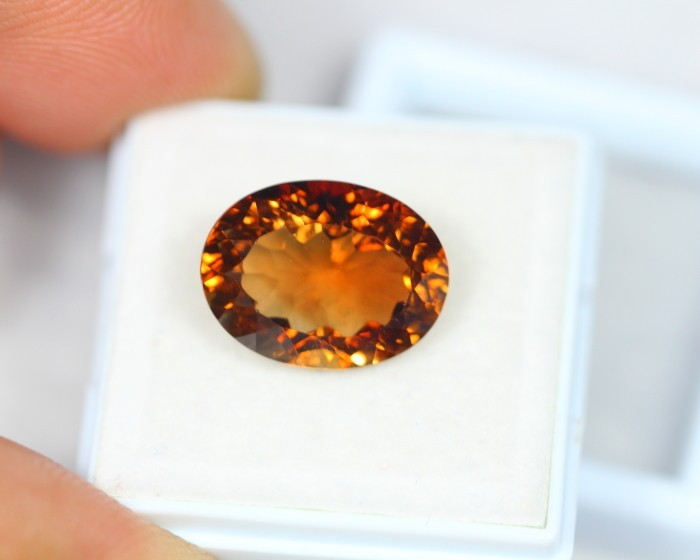 9.87Ct Natural Brown Gold ColorTopaz Oval Cut Lot LZB206