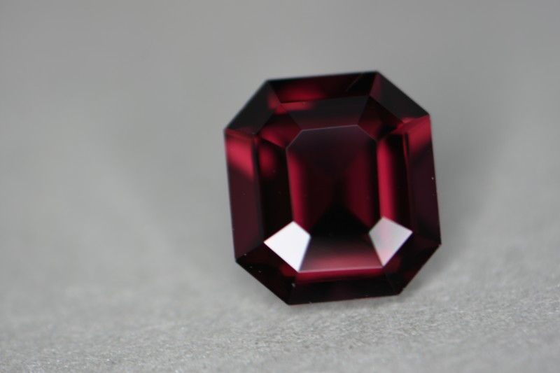 Certified natural red spinel.