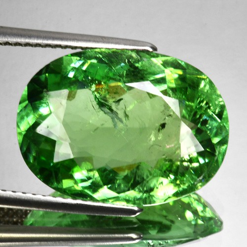 11.75 Cts Natural Mint Green Tourmaline Oval Cut Mozambique