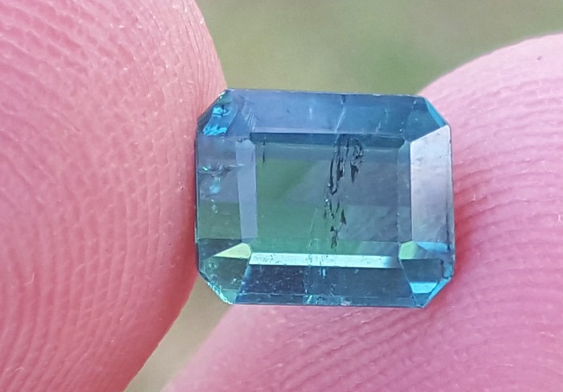 1.20 carats ink blue color Tourmaline Gemstone