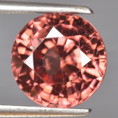 6.05 Cts Natural Brownish Pink Zircon Round Cut Tanzania