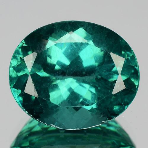 5.79 Cts Natural Apatite - Paraiba Blue Green Oval Cut Brazil