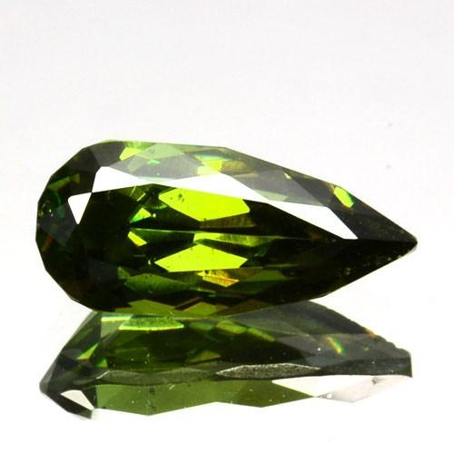 ~ULTRA RARE~ 0.94 Cts Natural Sparkling Green Sphalerite Pear Cut Bulgaria
