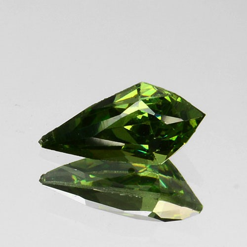 ~ULTRA RARE~ 0.30 Cts Natural Sparkling Green Sphalerite Fancy Cut Bulgaria