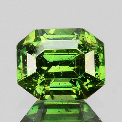~ULTRA RARE~ 0.44 Cts Natural Sparkling Green Sphalerite Octagon Cut Bulgar