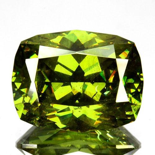 ~ULTRA RARE~ 4.32 Cts Natural Sparkling Green Sphalerite Cushion Cut Bulgar