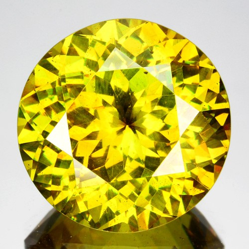 ~RAREST~ 8.73 Cts Natural Sparkling Yellow Sphalerite Round Cut Spain