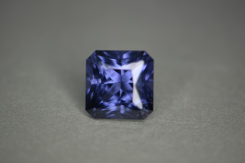 Beautifully cut spinel with cobalt certification.  Color changer.   Certified no surface diffusion.