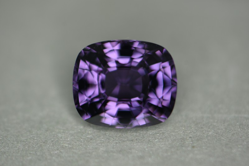 Just gorgeous violet color tone in this natural spinel gemstone.  Beautifully cut with great clarity and above 3 carats.
