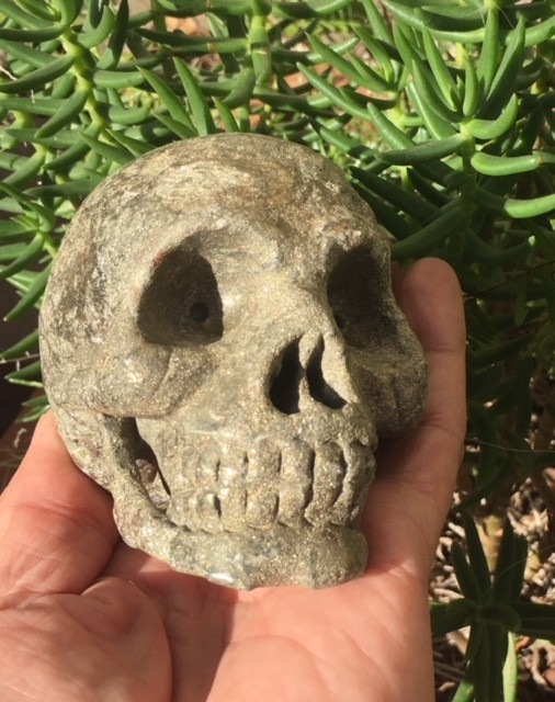 1.2 Kilo Wild  Stuffed Pyrite Gemstone  Skull  WS 370