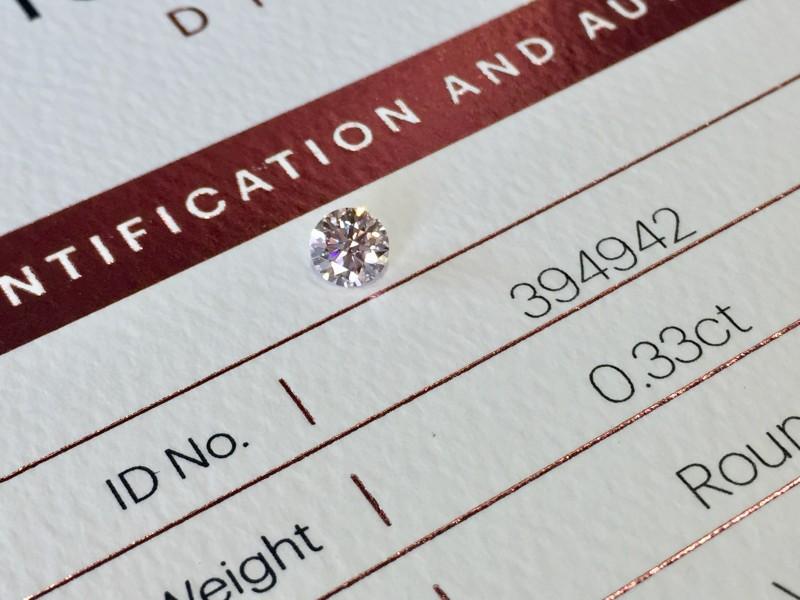 0.33ct 9P Vs2 Certified Argyle Pink Diamond