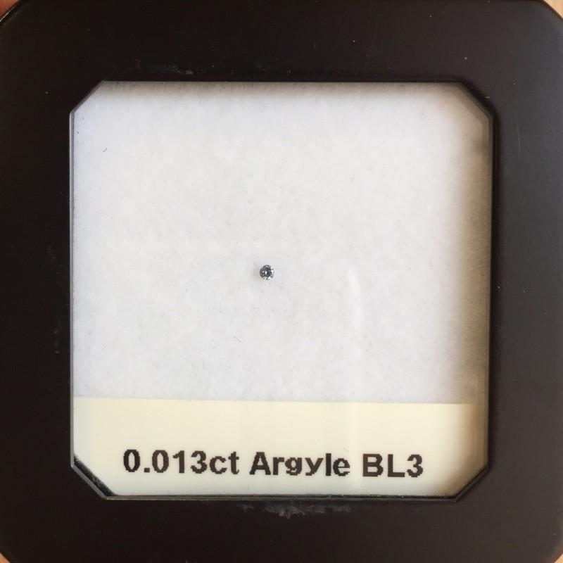 0.013ct BL3 SIAV Argyle Blue Diamond