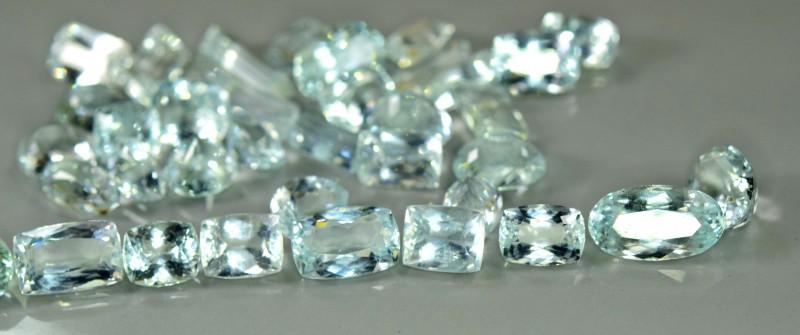 104.80 cts Natural Aquamarine Gemstones Parcel ~ Pakistan ~ 37 Pieces