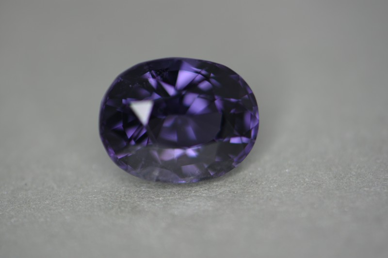Beautiful purple color.  3.69 carats.   Almost loupe clean stone.  VS to VVs quality.  Excellent cut for lots of internal reflection.   High luster clean stone.