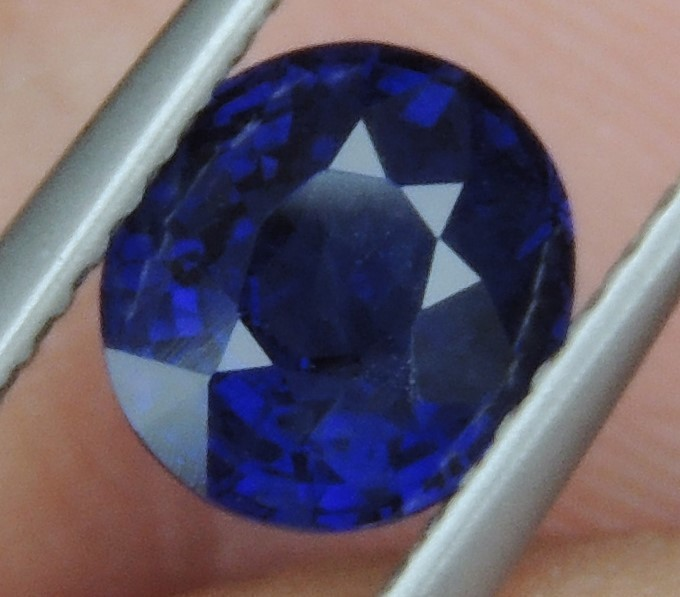 1.56cts,  Sapphire,  Pure Blue,  Heat Only,  Clean