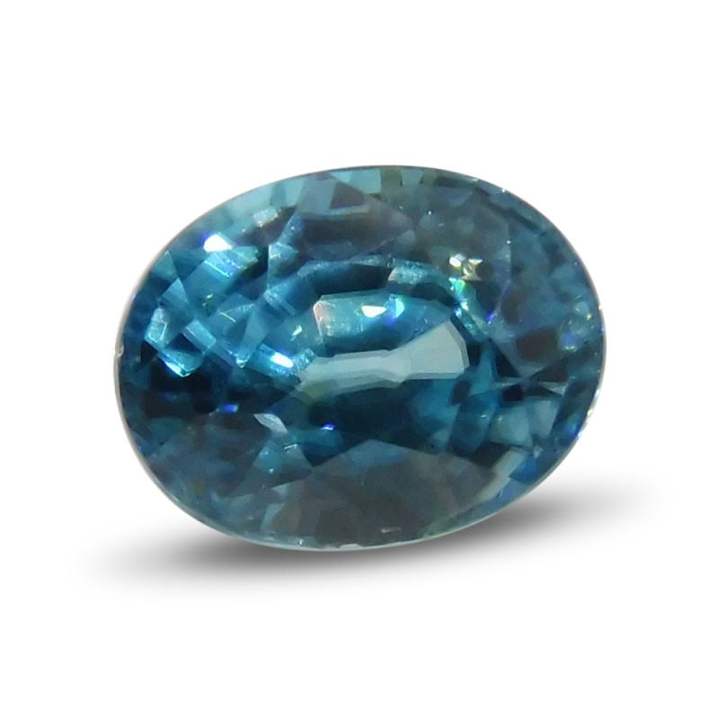 4.16 ct Oval Blue Zircon