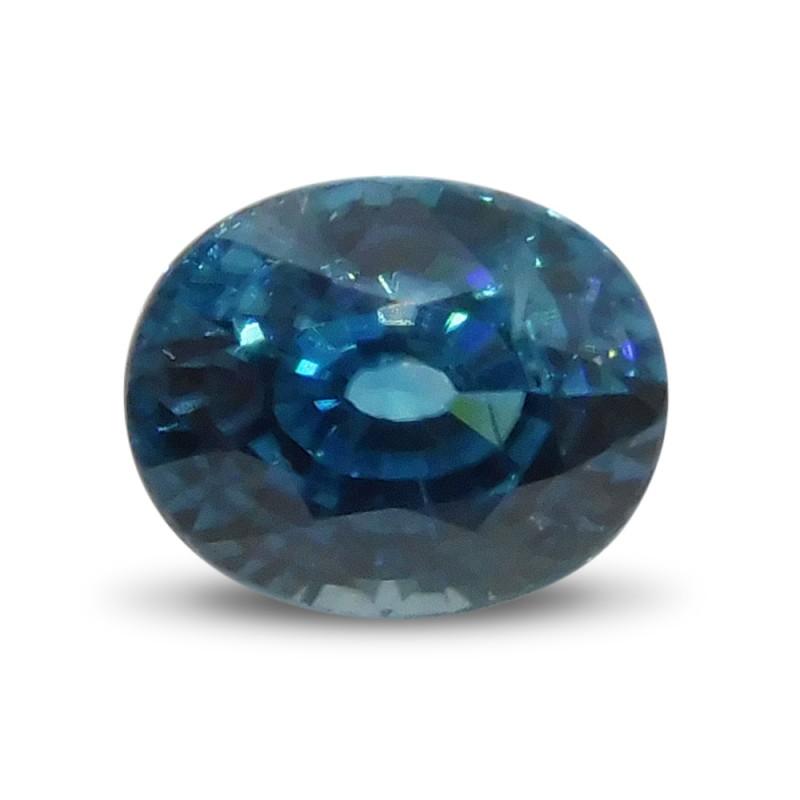 3.27 ct Oval Blue Zircon