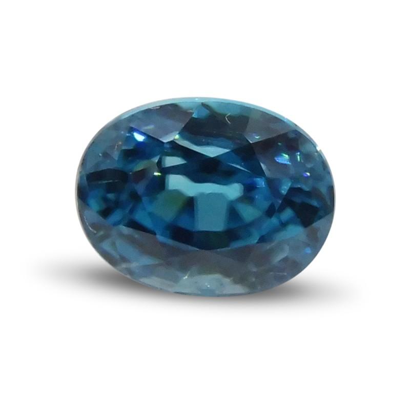 3.41 ct Oval Blue Zircon