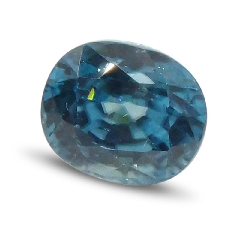 2.61 ct Oval Blue Zircon
