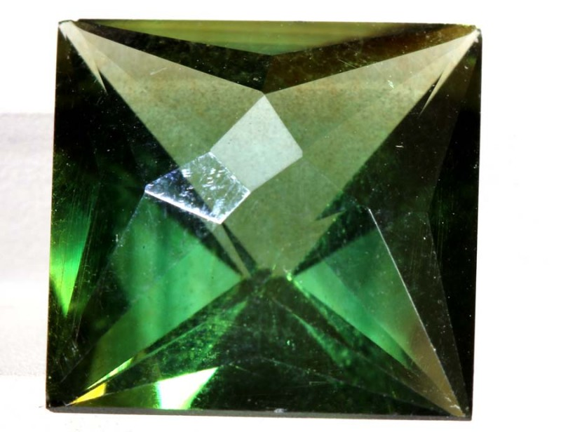 5.65- CTS  GREEN QUARTZ FACETED  CG-2535