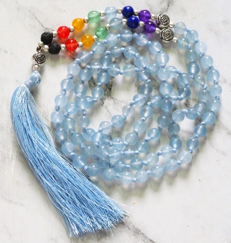 Dyed Quartz Prayer Beads WS397