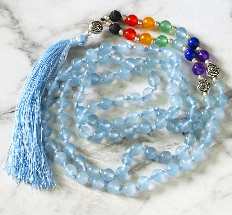 Dyed Quartz Prayer Beads WS398