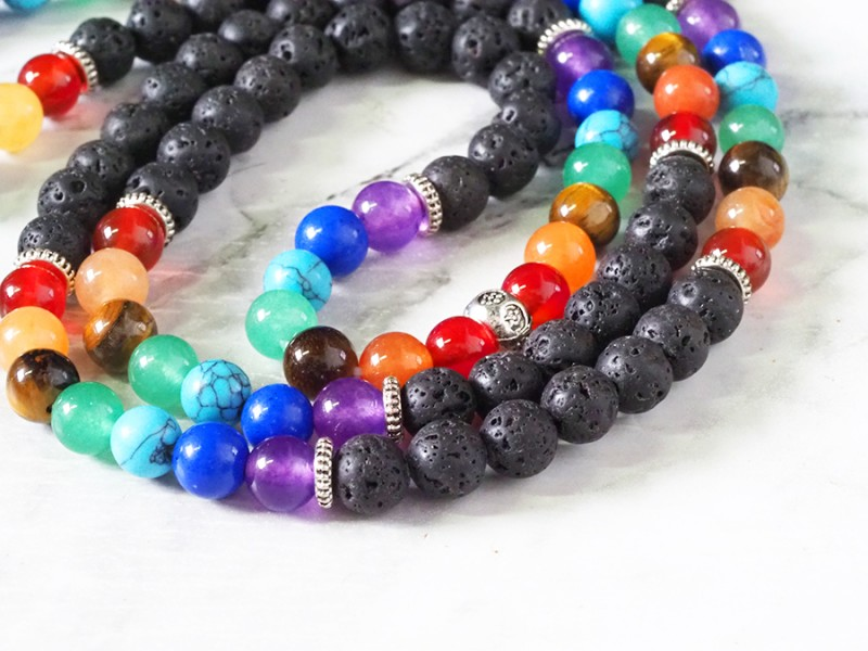 Lava with the Tree of Life Prayer Beads WS404