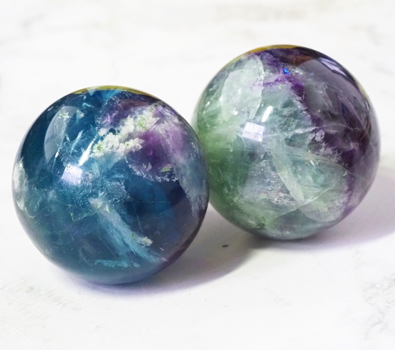 1,100cts for two Flourite spheres Ws 409