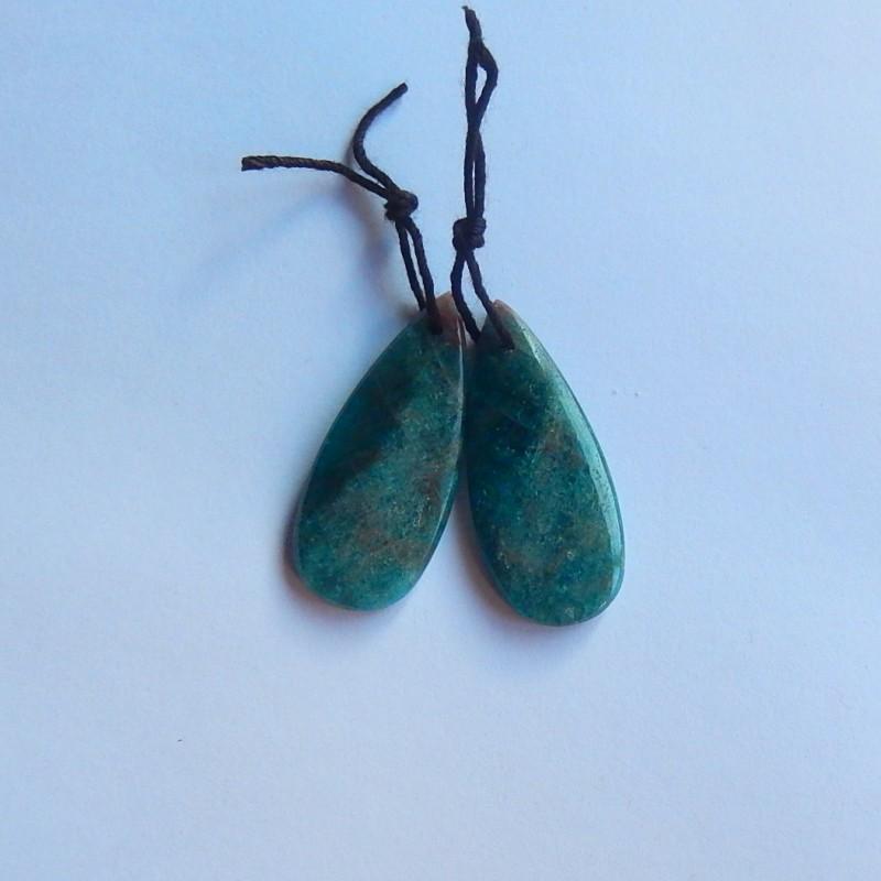 41ct Natural Blue apatite Earring Pair(18091164)