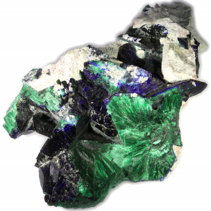 470.00 CTS AZURITE AND MALACHITE MEXICO  [MGW5347]