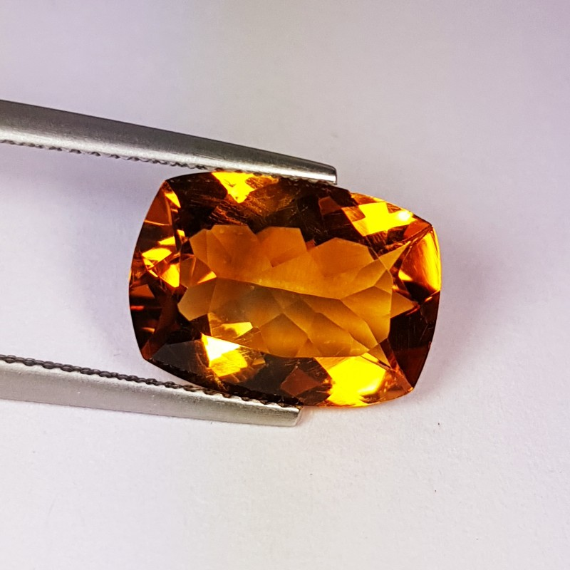 4.91 ct Beautiful Golden Whiskey Cushion Cut Natural Citrine