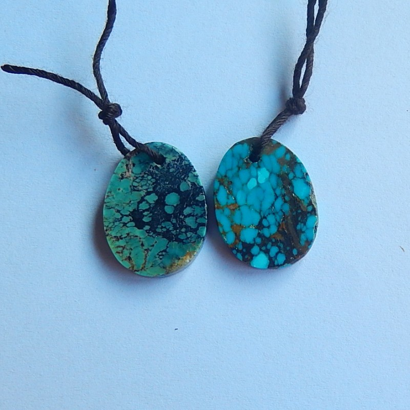 16.5ct Natural turquoise Earring Pair(18091224)