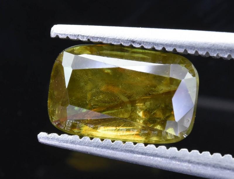 2.45 Crt  Natural Chrome Sphene Faceted Gemstone