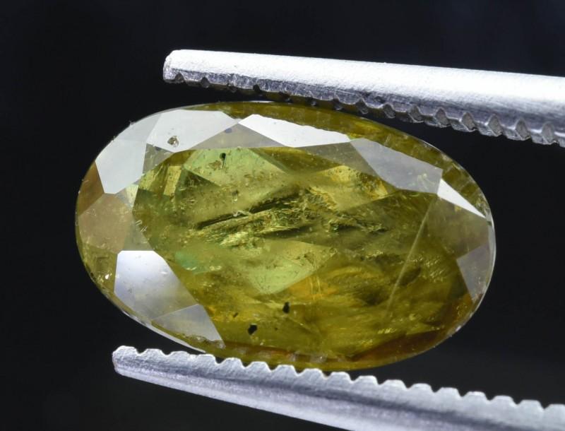 1.95 Crt  Natural Chrome Sphene Faceted Gemstone