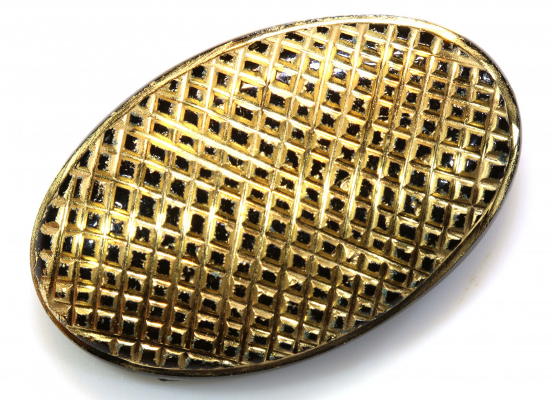 25CTS BLACK ONYX 24K GOLD ENGRAVED  LG-835