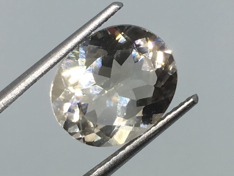 5.75 Carat VVS Topaz Diamond White - Unheated - Brazilian Beauty !