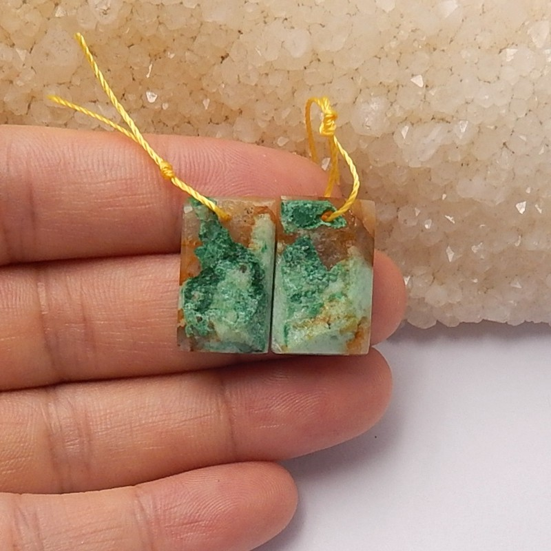 Free shipping 20ct Natural chrysocolla earring beads (18091287)