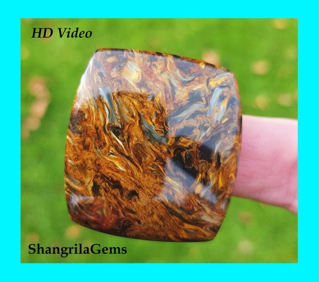 36mm 53ct Pietersite cushion square cabochon  AAA 36 by 34 by 5mm